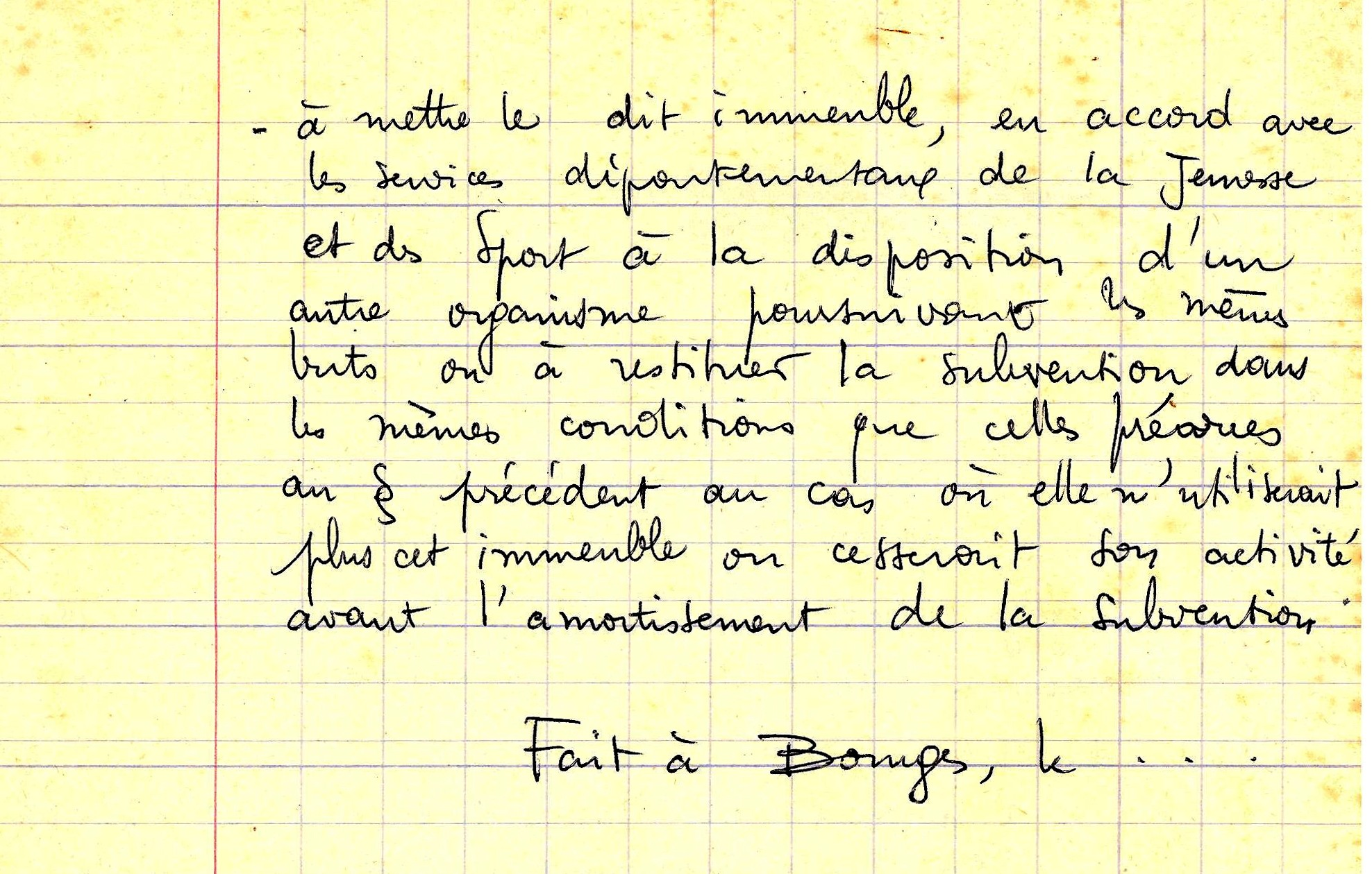 ENGAGEMENT DE RESTITUTION VERSO